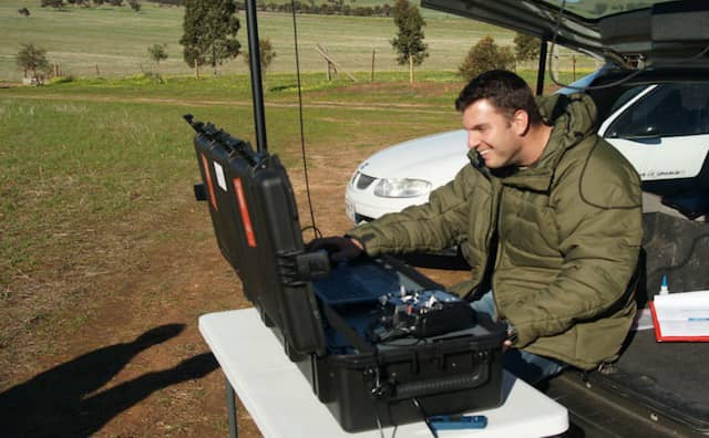 photo of operator at ground station
