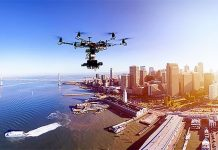 drone over composite image