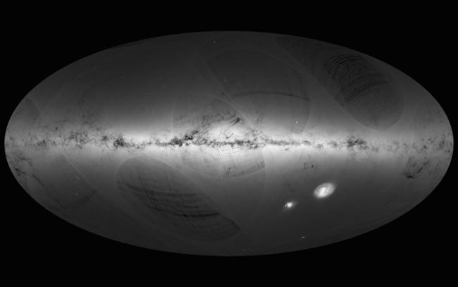 Gaia's first sky map of the Milky Way courtesy ESA
