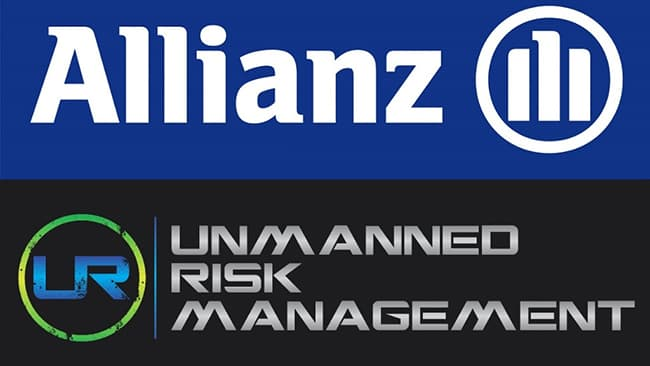 graphic logo for Allianz and Unmanned Risk announcement
