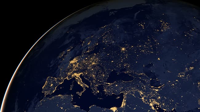 NASA - City Lights of Africa, Europe, and the Middle East