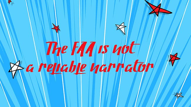 graphic FAA is not a reliable narrator