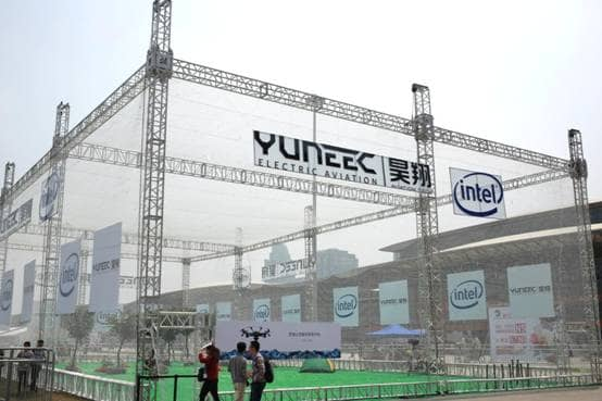 photo of Yuneec booth at CES Asia