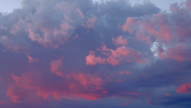 sky at sunset with clouds
