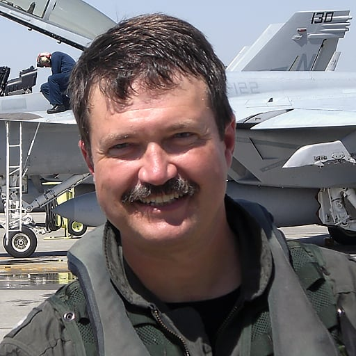 Commander Frank Mellott USN, Retired on his final flight