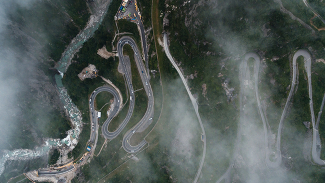 abstract aerial image