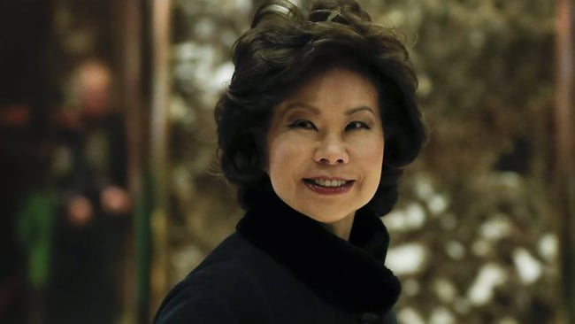 Elaine Chao Named New DOT Boss