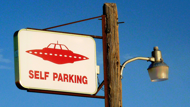 UFO street sign in Roswell, NM