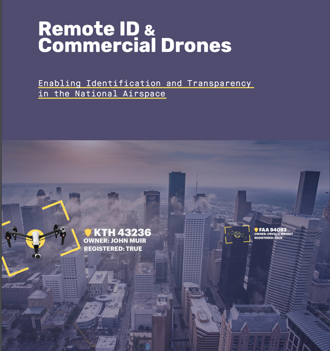 cover of Kittyhawk.io white paper Remote ID & Commercial Drones